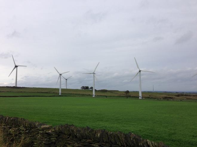 Close up Windmills